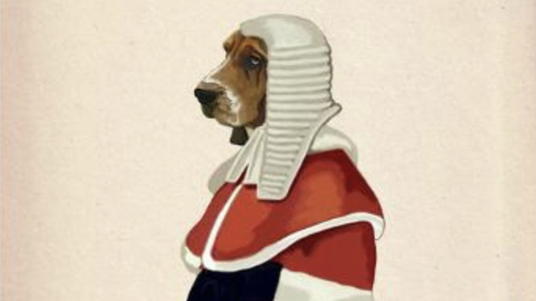 A dog in court